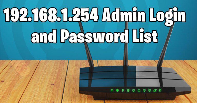 192.168.l.254 – 192.168.1.254 Router Login 2020