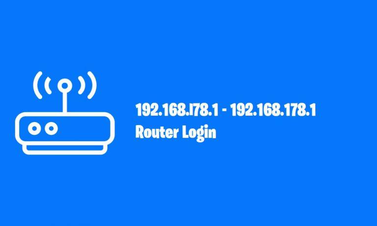 192.168.l78.1 – 192.168.178.1 Router Login 2020