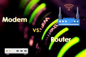 Modem vs router differences